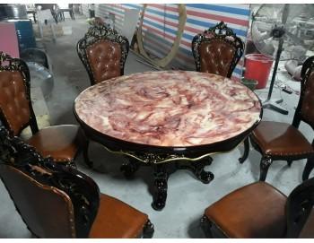 Bàn ghế ăn châu âu tân cổ điển nhập khẩu bàn tròn