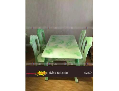 Bàn ghế ăn ngọc bích đá cẩm thạch TN05