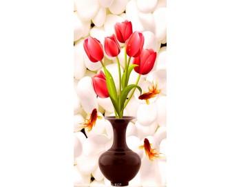 Tranh gạch 3d bình hoa 127