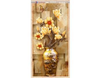 tranh gạch 3d bình hoa đẹp 52