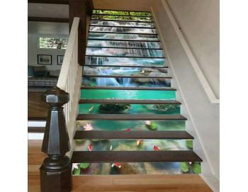 Cầu thang 3D thác nước 5