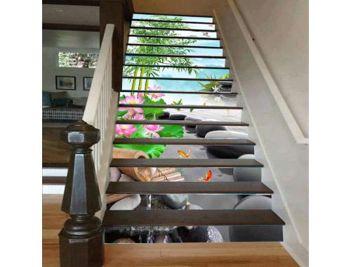 Cầu thang 3D thác nước 6
