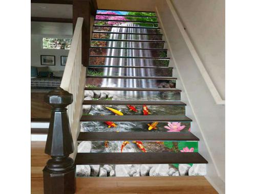 Cầu thang 3D sơn thủy 8