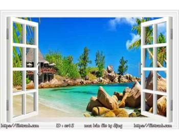 Tranh 3d cửa sổ phong cảnh đẹp 48