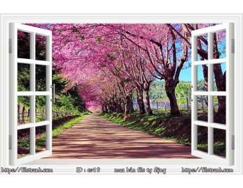 Tranh 3d cửa sổ phong cảnh đẹp 49