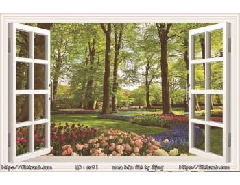 Tranh 3d cửa sổ phong cảnh đẹp 51