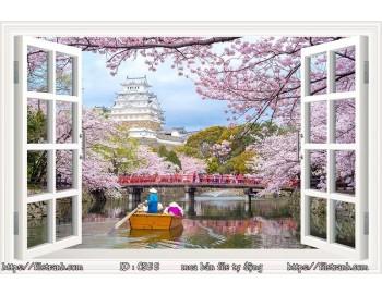 Tranh 3d cửa sổ phong cảnh đẹp 55
