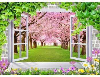 Tranh 3d cửa sổ phong cảnh đẹp 61