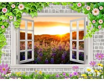Tranh 3d cửa sổ phong cảnh đẹp 63