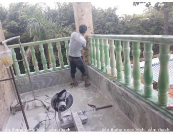 Cầu thang ngọc bích hiện đại xanh   công trình 21