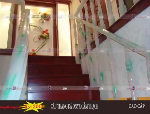 Cầu thang đá cẩm thạch demo 4