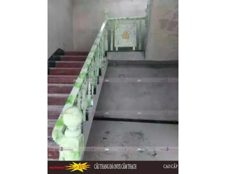 Cầu thang đá cẩm thạch demo  7