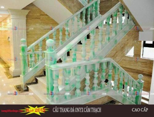 Cầu thang đá cẩm thạch demo9