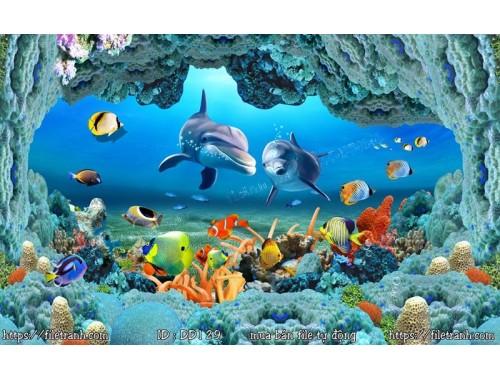Tranh 3d đại dương cảnh biển 129