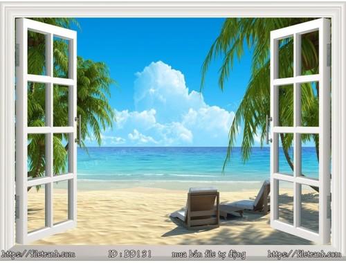 Tranh 3d đại dương cảnh biển 131