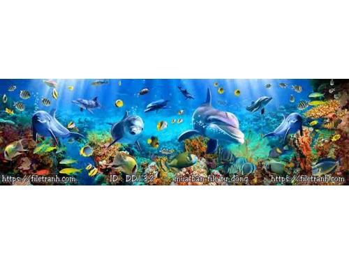Tranh 3d đại dương cảnh biển 132