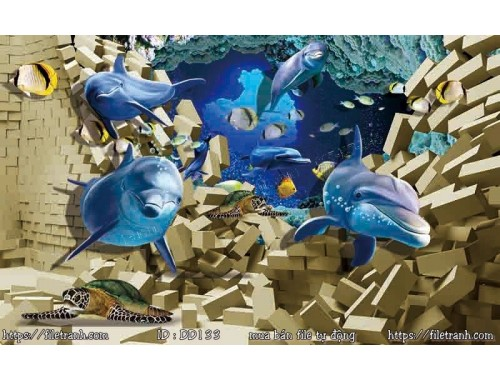 Tranh 3d đại dương cảnh biển 133