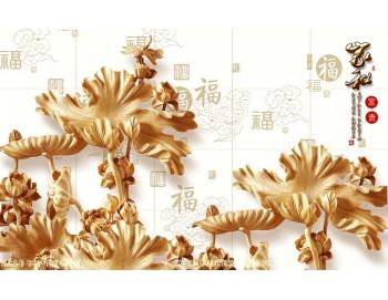 Tranh gạch 3D điêu khắc DK86