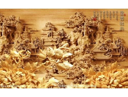Tranh gạch 3D điêu khắc DK93