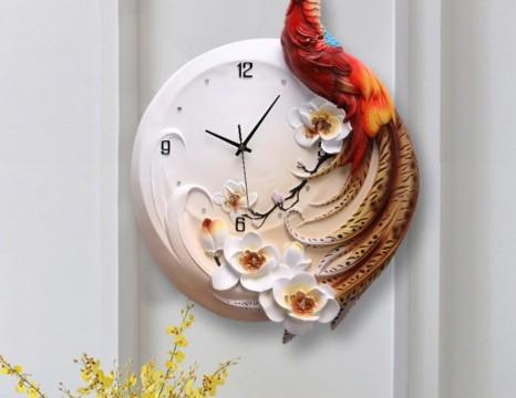 Đồng hồ 3D chim trĩ