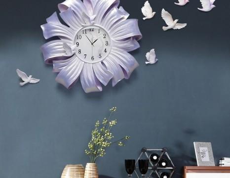 Đồng hồ 3D cao cấp Cánh hoa DH39