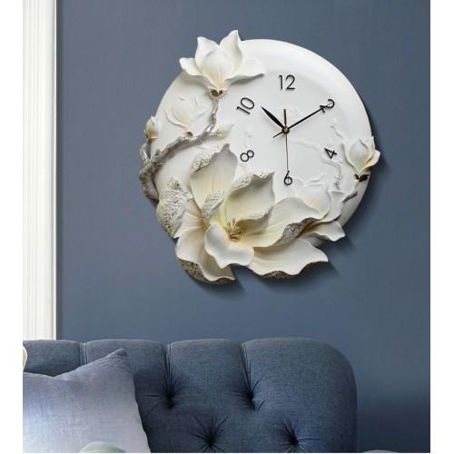 Đồng hồ treo tường hoa mộc lan 3D