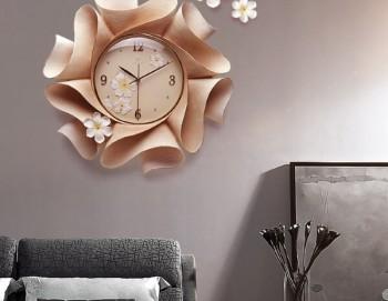 Đồng hồ trang trí hoa 6 cánh