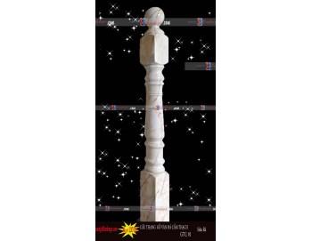 Trụ chính cầu thang gỗ vân đá cẩm thạch 01