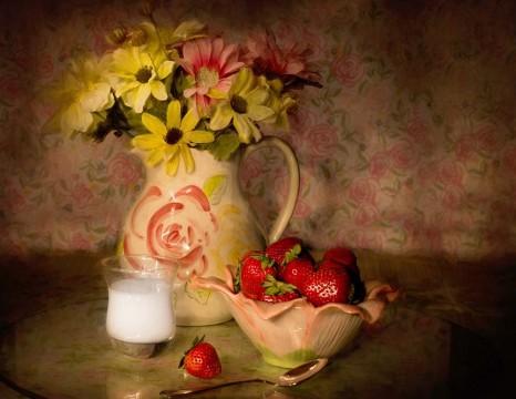 Tranh 3D gạch , lụa hoa sơn dầu 45