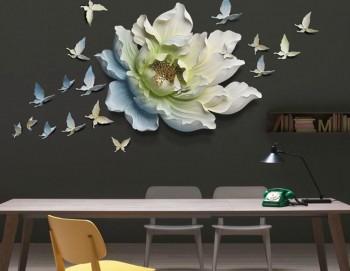Tranh decor 3D trang trí Hoa Mẫu Đơn