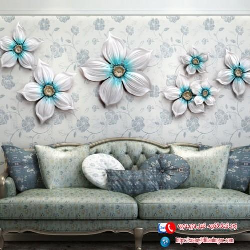 Bộ hoa treo tường mẫu 4