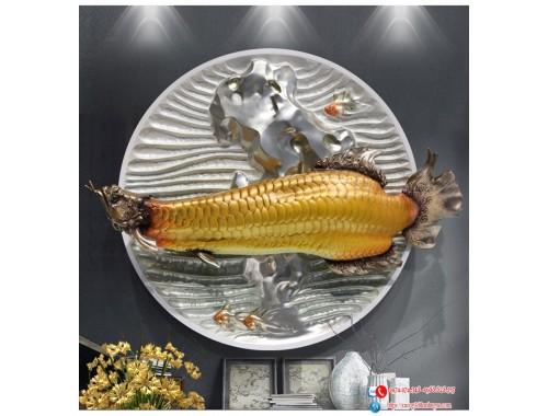Decor 3D Cá Rồng Kim Long