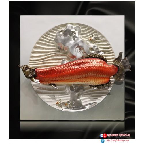 Decor trang trí Cá rồng huyết long