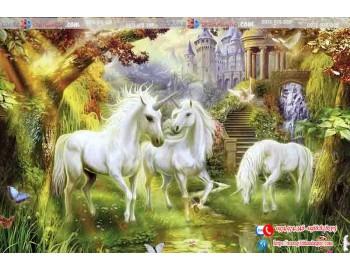 Tranh gạch 3d ngựa thần tiên 171