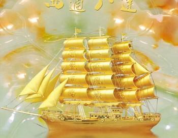 Tranh 3D thuận buồm xuôi gió giả ngọc