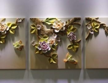 Tranh treo tường hiện đại 3D Hoa Đào rừng