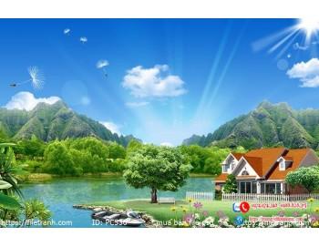 Tranh gạch 3d phong cảnh 536