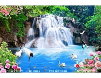 Tranh gạch 3d phong cảnh 555