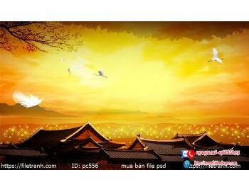Tranh gạch 3d phong cảnh 556