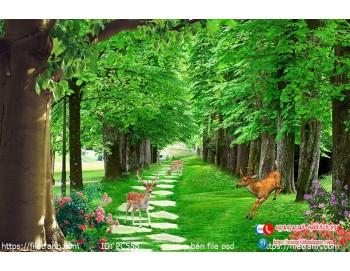 Tranh gạch 3d phong cảnh 558