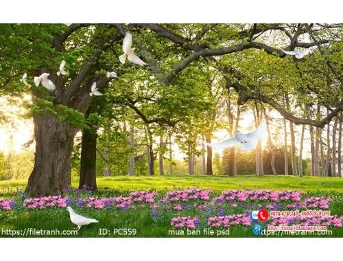 Tranh gạch 3d phong cảnh 559