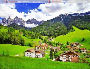 tranh gạch 3d phong cảnh núi rừng tây bắc 139