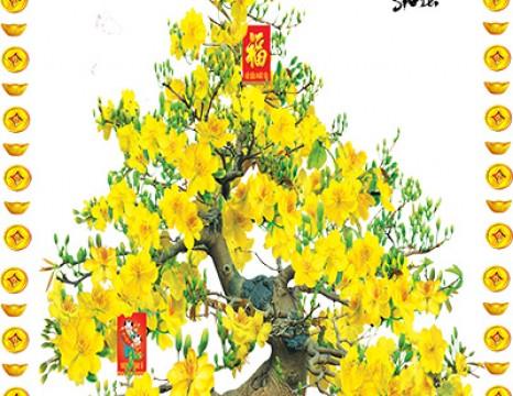 Tranh gạch cây mai lộc