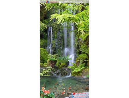 tranh gạch 3d thác nước đứng 92
