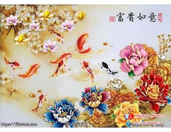 Tranh hoa trang sức 3d 360