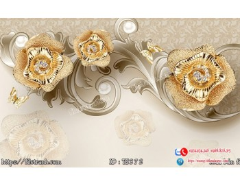 Tranh hoa trang sức 3d 372