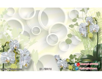 Tranh hoa trang sức 3d 376