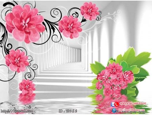Tranh hoa trang sức 3d 382