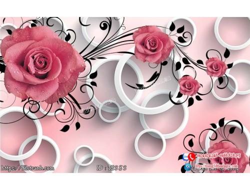 Tranh hoa trang sức 3d 383