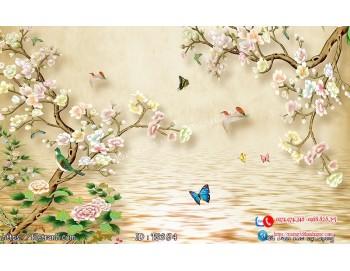 Tranh hoa trang sức 3d 384